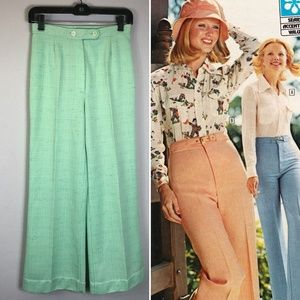 Vintage 70s high waist PANTS Boho Festival Kawaii